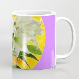 EASTER LILIES ON LILAC GOLDEN MOON Coffee Mug