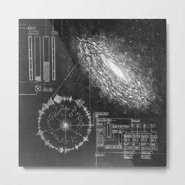 Galaxy and the structure of music! Metal Print