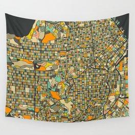 SAN FRANCISCO MAP Wall Tapestry