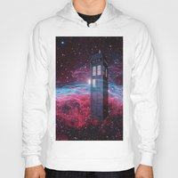 dr who Hoodies featuring Dr Who police box  by store2u