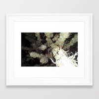 the cure Framed Art Prints featuring cure by kc vo