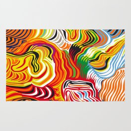 colored flow Rug