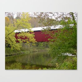 Bakers Camp Covered Bridge II Canvas Print