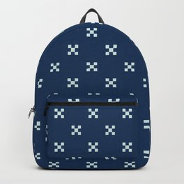 Ditsy Square Motif Grid Japanese Style Hand Drawn Backpack