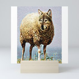 Wolf In Sheeps Clothing | Painting   Mini Art Print