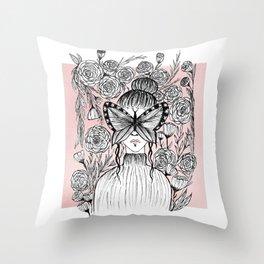 A little shy Throw Pillow