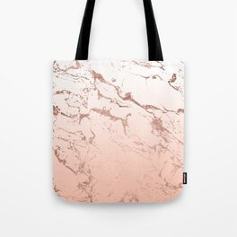 Pink blush white ombre gradient rose gold marble pattern Tote Bag