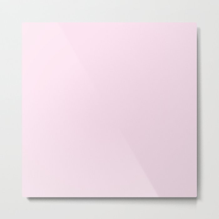 Simply Desert Rose Pink Metal Print