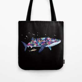 Geomatric Shark Tote Bag