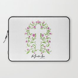 No Greater Love Floral Cross Laptop Sleeve