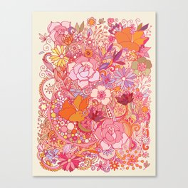 Detailed summer floral pattern Canvas Print