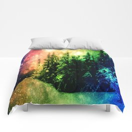 Galaxy Forest Rainbow Snow Comforters