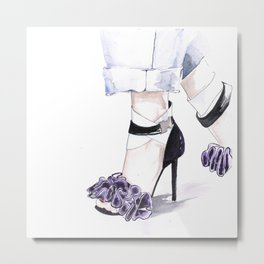 BalmainShoes Metal Print