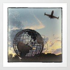 Unisphere Jetplane Art Print