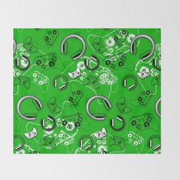 Gamers-Green Throw Blanket
