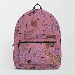 Pink fish pond Backpack