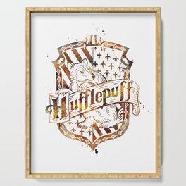 Hufflepuff Crest Serving Tray