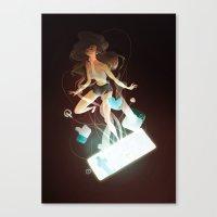 tangled Canvas Prints featuring Tangled by Marija Tiurina