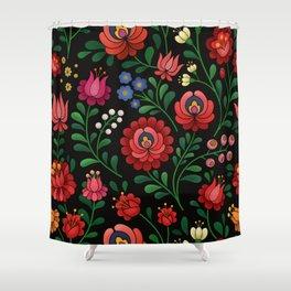 Hungarian flowers Shower Curtain