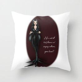 Morticia Throw Pillow