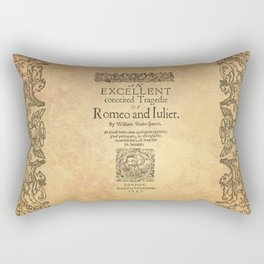 Shakespeare, Romeo and Juliet 1597 Rectangular Pillow