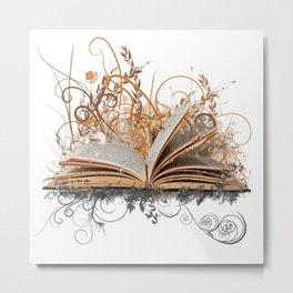 BLOOMING BOOK Metal Print