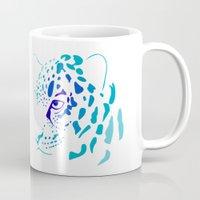 jaguar Mugs featuring Jaguar by Icela perez bravo