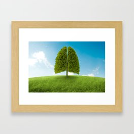 Lungs tree Framed Art Print