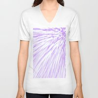 lavender V-neck T-shirts featuring Lavender. by SimplyChic