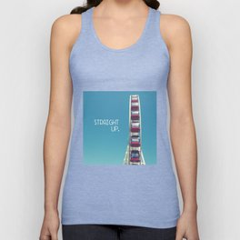straight up with text Unisex Tank Top