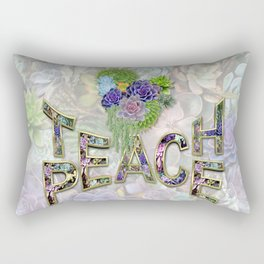 Teach Peace with the Power of Words Rectangular Pillow