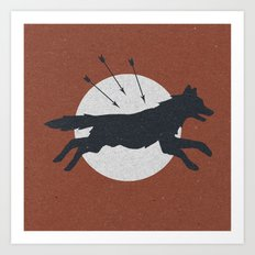 Wolf & Arrow Art Print
