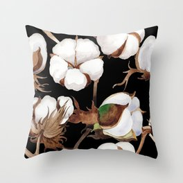 Cotton Flower Pattern 03 Throw Pillow