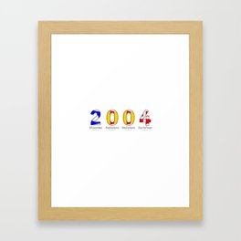 2004 - NAVY - My Year of Birth Framed Art Print