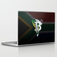 south africa Laptop & iPad Skins featuring bitcoin South Africa by seb mcnulty