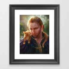 Anders and Ser Pounce-a-Lot Framed Art Print