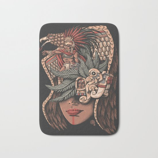 Aztec Eagle Warrior Bath Mat