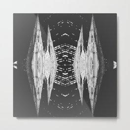 St. Patrick Church Inspired Mirrored Pattern Designed by Luyao Zhang Metal Print