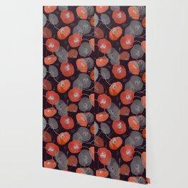 Night in the Poppy Field Wallpaper