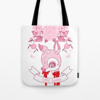 kendrawcandraw Tote Bags featuring Little Bambi by kendrawcandraw