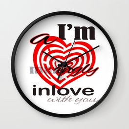 I'm  A mazingly in love with you Romantic Valentines Day Matching Shirt Wall Clock
