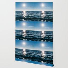 Sea Blue Sky sun Wallpaper