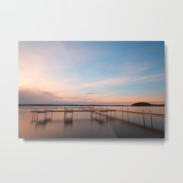 Saratoga Lake Sunset Metal Print