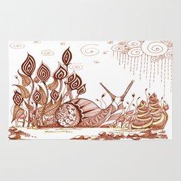 Snail in the garden Rug