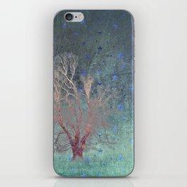 Blue Stars Falling iPhone Skin