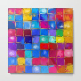 MoSaiC ART ' ALL THe PReTTY CoLouRS ' By SHiRLeY MacARTHuR Metal Print