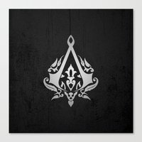 assassins creed Canvas Prints featuring ASSASSINS creed    by Thorin