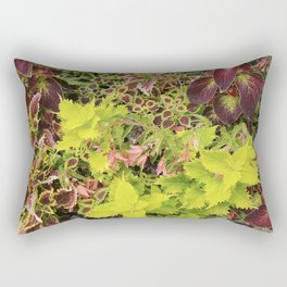 Foliage Fiesta With A Touch Of Begonia Rectangular Pillow