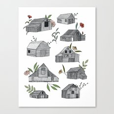 Flowers for Barns  Canvas Print