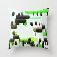 super mario Throw Pillows featuring Super Mario  by Cristina Lobo